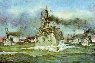 The Flying Squadron, Spanish-American War, 1898--Giclee Print