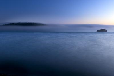 The Fog Rolls Back Into Martha's Beach At Sunset In Washington-Jay Goodrich-Photographic Print