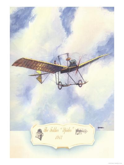 The Fokker Spider, 1912-Charles H. Hubbell-Art Print