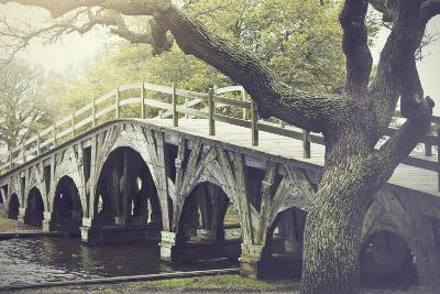 The Footbridge in Corolla, North Carolina is on the National Register of Historic Places.-pdb1-Photographic Print