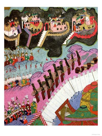 The Forces of Suleyman the Magnificent Besieging a Christian Fortress--Giclee Print