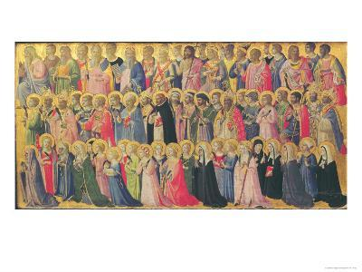 The Forerunners of Christ with Saints and Martyrs, 1423-24-Fra Angelico-Giclee Print