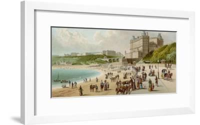 The Foreshore Road at Scarborough Which Follows the Coast Beside the Beach--Framed Giclee Print