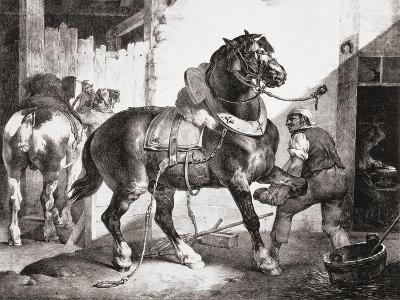 The Forge, from Etudes De Cheveaux, 1822-Th?odore G?ricault-Giclee Print