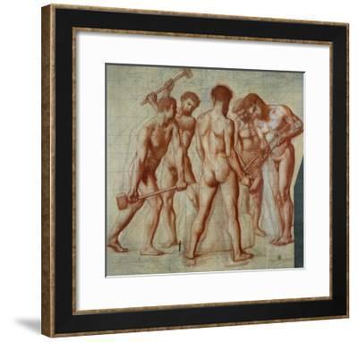 The Forgers, Study For Allegorie du Travail-Pierre Puvis de Chavannes-Framed Giclee Print