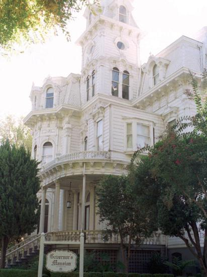 The Former California Governors Mansion Seen in Downtown Sacramento, California-Rich Pedroncelli-Photographic Print