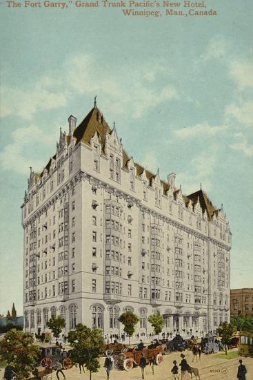 The Fort Garry, Grand Trunk Pacific Railway's New Hotel, Winnipeg, Manitoba, Canada--Photographic Print