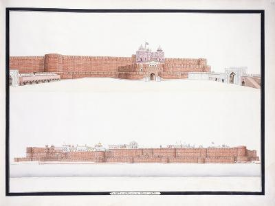 The Fort of Agra, with the Delhi Gate, C. 1815--Giclee Print