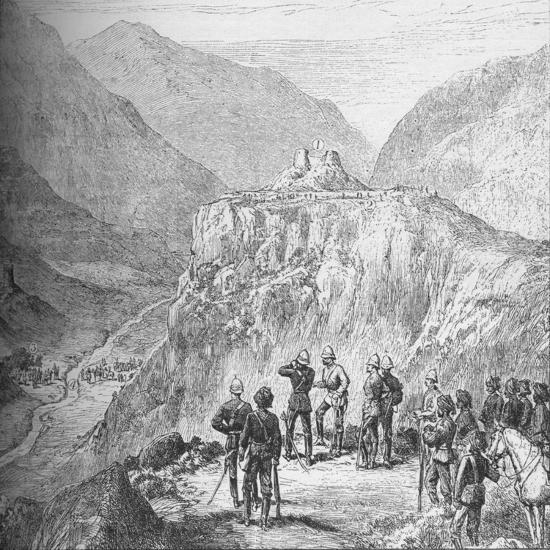 The fort of Ali Masjid in the Khyber Pass, 1908-Unknown-Giclee Print