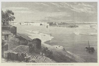 The Fort of Allahabad, and Junction of the Jumna with the Ganges-William 'Crimea' Simpson-Giclee Print