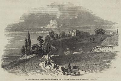 The Fortifications of Paris, Viscount Palmerston and M Thiers Inspecting Mont-Valerien--Giclee Print