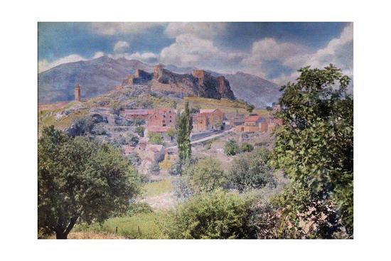 The Fortress Clissa Stands Tall Behind the Village Klis-Hans Hildenbrand-Photographic Print