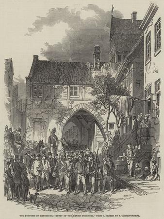 The Fortress of Rendsburg, Entry of the Danish Prisoners--Giclee Print