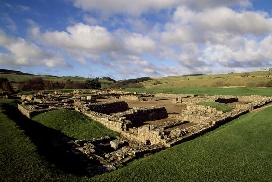 The Fortress of Vindolanda Roman Fort, Hadrian's Wall--Photographic Print