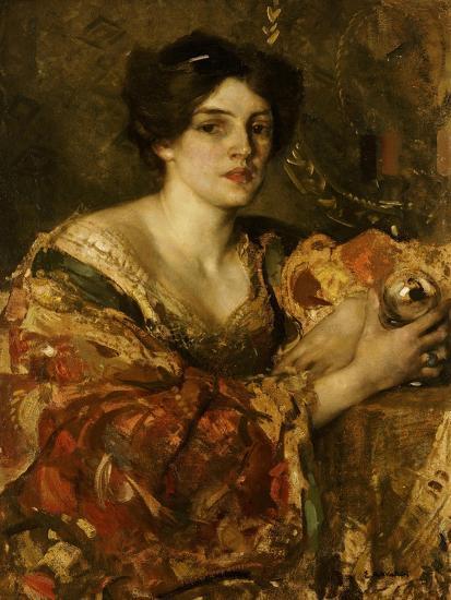 The Fortune Teller, Miss Jane Aitken-Edward Arthur Walton-Giclee Print