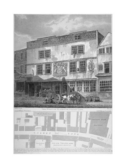 The Fortune Theatre, Golden Lane, City of London, 1811-William Wise-Giclee Print