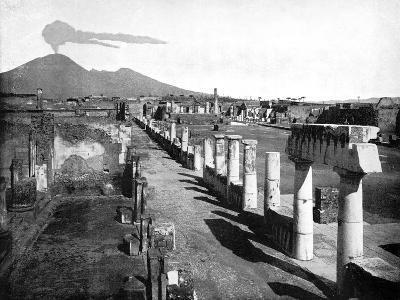The Forum, Pompeii, Italy, 1893-John L Stoddard-Giclee Print