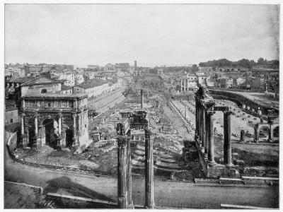 The Forum, Rome, Late 19th Century-John L Stoddard-Giclee Print