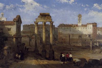 The Forum, Rome-David Roberts-Giclee Print