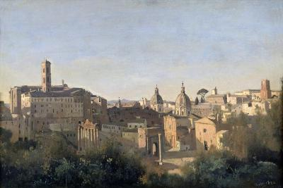 The Forum Seen from the Farnese Gardens, Rome, 1826-Jean-Baptiste-Camille Corot-Giclee Print