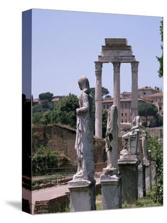 The Forum, Unesco World Heritage Site, Rome, Lazio, Italy-Roy Rainford-Stretched Canvas Print