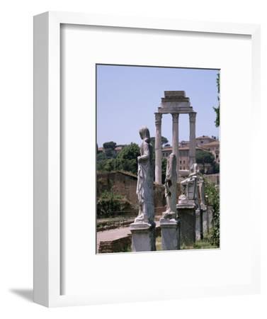 The Forum, Unesco World Heritage Site, Rome, Lazio, Italy-Roy Rainford-Framed Photographic Print