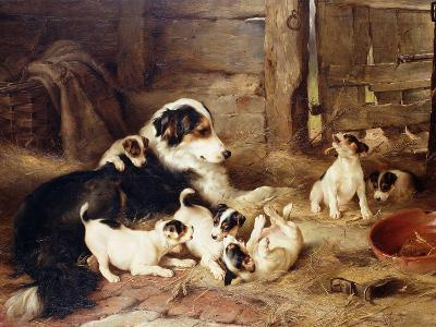 The Foster Mother-Walter Hunt-Giclee Print