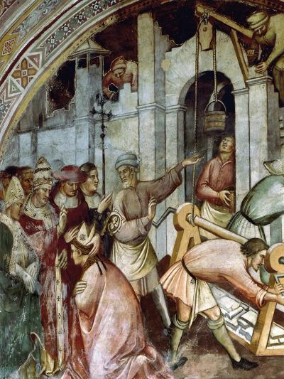 The Foundation of City of Alexandria, Detail of Fresco History of Pope Alexander III, 1407-Spinello Aretino-Giclee Print