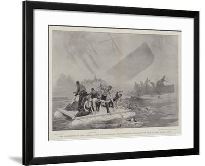 The Foundering of the French Liner La Bourgogne, the Desperate Struggle for Life as the Vessel Sank-Joseph Nash-Framed Giclee Print