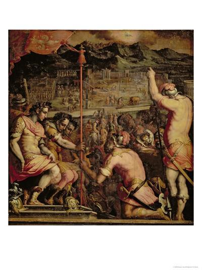 The Founding of Florence from the Ceiling of the Salone Dei Cinquecento, 1565-Giorgio Vasari-Giclee Print