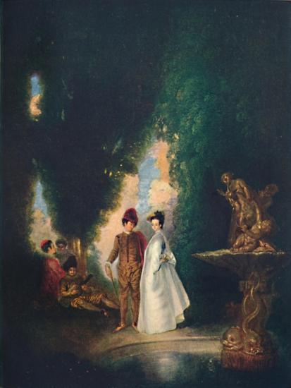 'The Fountain', c18th century, (1911)-Jean-Antoine Watteau-Giclee Print