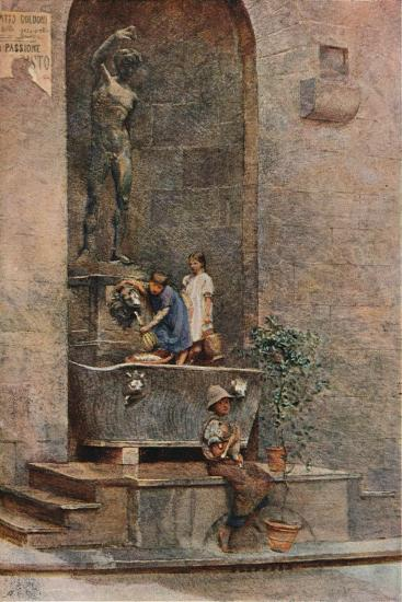 'The Fountain', c1904-Herbert Alexander Collins-Giclee Print