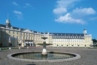 The Fountain in Karlsruhe Palace Courtyard--Photographic Print