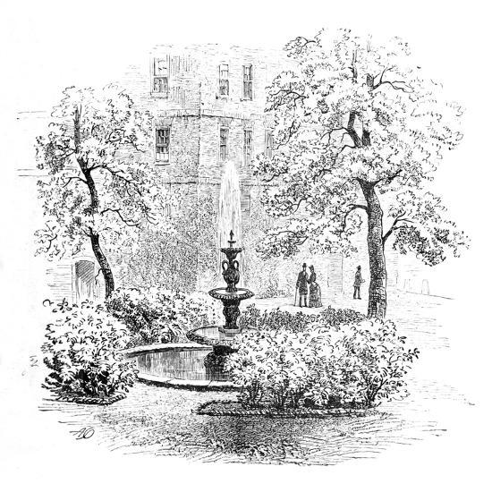 'The Fountain, Middle Temple', 1890-Unknown-Giclee Print