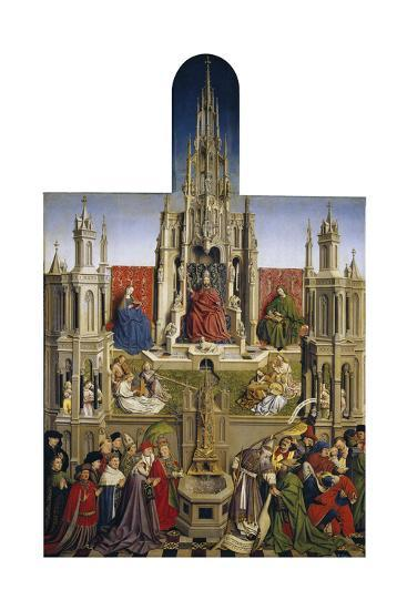 The Fountain of Grace and the Triumph of Ecclesia over the Synagogue, 1430-Jan van Eyck-Giclee Print