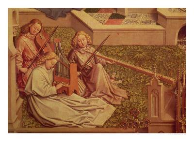 The Fountain of Grace, Detail of Three Angel Musicians-Jan van Eyck-Giclee Print