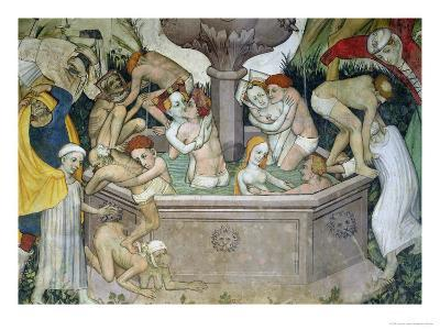 The Fountain of Life, Detail of Bathers in the Fountain, 1418-30-Giacomo Jaquerio-Giclee Print
