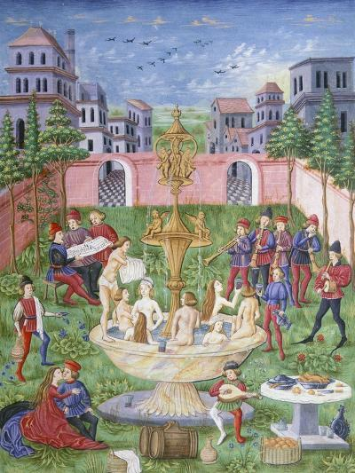 The Fountain of Life: Singers and Musicians in a Garden--Giclee Print