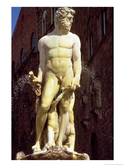 The Fountain of Neptune, Detail of the Figure of Neptune, 1560-75-Bartolomeo Ammannati-Giclee Print