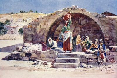 The Fountain of the Virgin, Nazareth, C.1910--Giclee Print