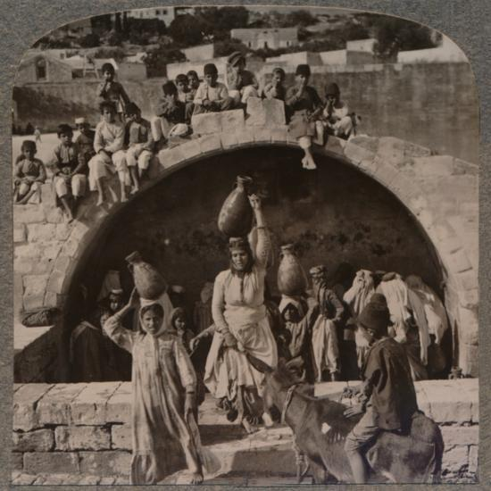 'The Fountain of the Virgin, Nazareth', c1900-Unknown-Photographic Print