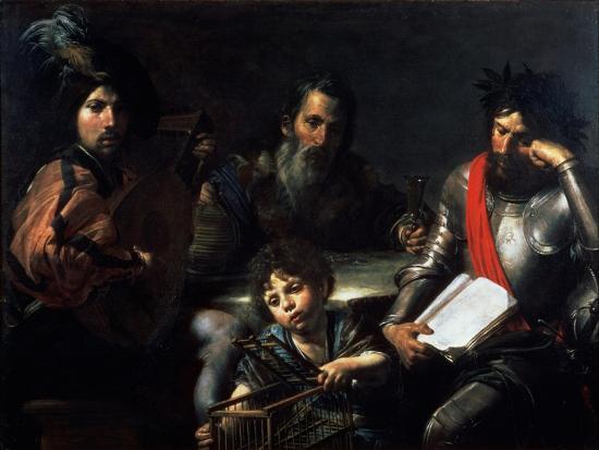 The Four Ages of Man, circa 1626-7-Valentin de Boulogne-Giclee Print