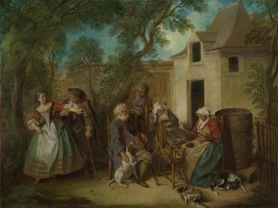The Four Ages of Man: Old Age, Ca 1735-Nicolas Lancret-Giclee Print