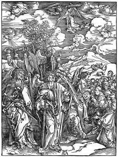 The Four Angels Holding the Winds, 1498-Albrecht Durer-Giclee Print