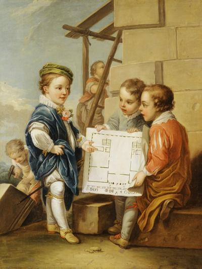 The Four Arts - Architecture-Carle van Loo-Giclee Print