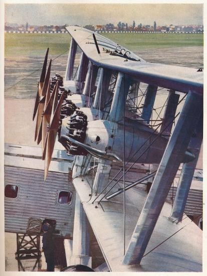 The four Bristol Jupiter engines of the Imperial Airways liner 'Scylla', c1936 (c1937)-Unknown-Giclee Print