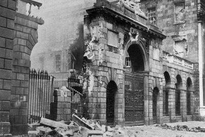 The Four Courts Bombarded, Dublin, Ireland, July 1922--Giclee Print