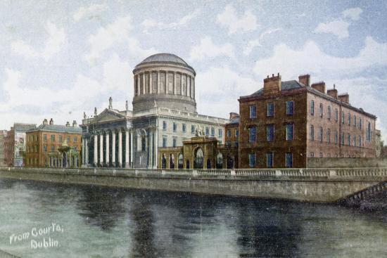 The Four Courts, Dublin, Ireland, C1900s-C1920S--Giclee Print