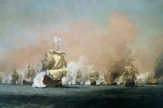 The Four Days' Battle, 1st-4th June 1666: The Royal Prince-Willem Van De, The Younger Velde-Giclee Print