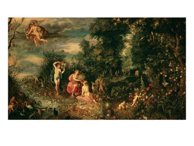 The Four Elements-Jan Brueghel the Elder-Giclee Print